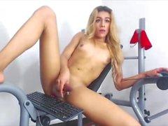 Latin Dickgirl Exercises Her Penis