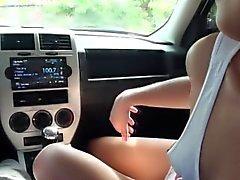 Attelage baise amateurs à la voiture