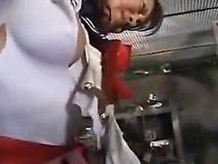 Busty Asian babe boydan boya geçirildi ve zorla işkence gördü.