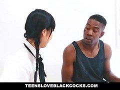 TeensLoveBlackCocks - Japanische Tutor wird von einem Big Black Cock Gebohrt