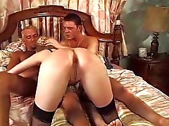 Lou Valmont - Fransızca bayan iki adama Fucked