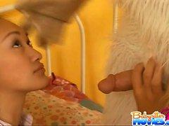 Faserpigtail frech Babysitter Evelyn Leng immer von gebumst