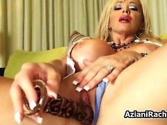 Big tits milf blonde Rachel Aziani toy