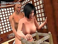 Brunette naked hentai girl fucking loaded shaft