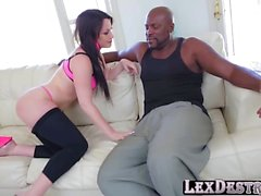 Gonzo and slinky Jennifer White gets fucked from behind