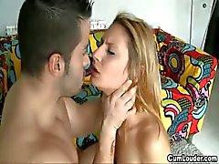 Naughty blonde teen begins in porn