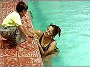 Hot telugu aunty romance scene