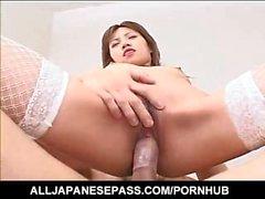 Japanilaiset AV- Model in kalaverkkojen kokemasi haittavaikutus on cum suussa jälkeen kierretään
