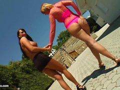 Mandy Bright fisting Gabriella Mai - lesbian action by