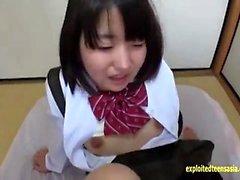 MILF koulun tyttö yhtenäinen tekee pov