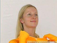 Garota louca Spandex Katherina