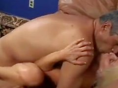 Blonde Wrinkled Woman Gets Fucked