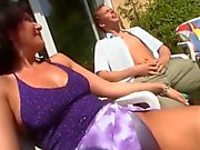 German MILF Gets A Young Guy To Cum