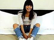 Amateur petite latina adolescente folla por dinero en efectivo en un falso casting
