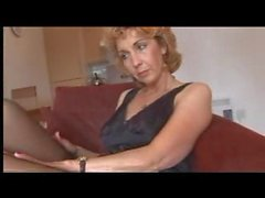 Mature Fully Fashioned Nylons and Lingerie Strip