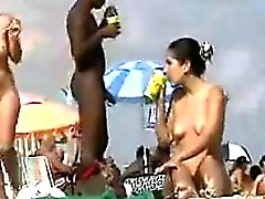 Nudists am Strand Willst du etwas von diesem Spiegel