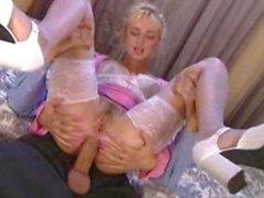 Stunning Blonde Anal Pounding