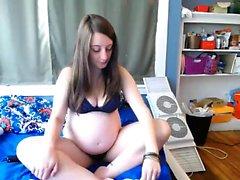 cunt enceinte Hot brûlant sur webcam