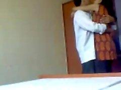 Les des actions les préliminaires du Hot Indian College couples