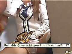 Miyu Hoshino naughty asian schoolgirl enjoys sucking cock