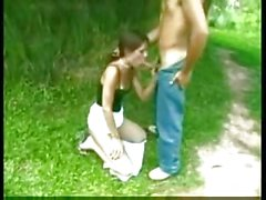 Hot Brunette Shemale Ass Fucked Outdoor
