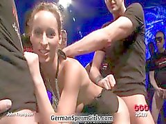 Mager brunett tyska hora älskar part4