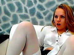 Сексуальные детеныши любительских блондин киску