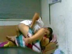 Азиатских пару делает их первых Sex Tape
