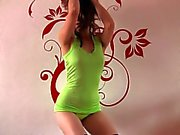 Hot naughty french sologirl dancing in thong and stockings
