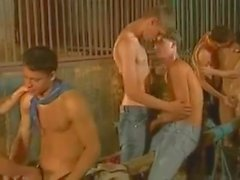 Cowboy Twinks Orgy