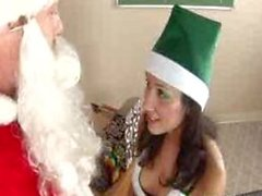 lovely teen in elf costume getting fucked by her favorite teacher