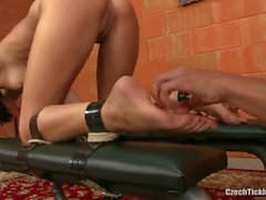 Fucked Ticklish sexy Mindy in doggy