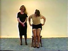 Julia spanks Jennifer