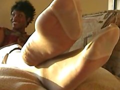 Ebony in Silky Pantyhose 4