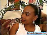 Pregnant Ebony Whore Gets Fucked By Two Massive Cocks