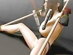 Amarrado Tifa menina 3d hentai ficando brincou