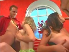 Busty young babes Bozena and Petra gets tight pussies fucked