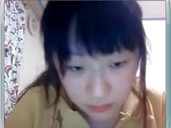 Asian University Student With Big Tits on Webcam
