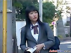 Asian Schoolgirl And Her Male Slave