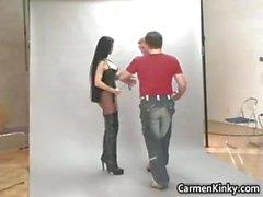 De Carmen Sexy haciendo un parte 1 fotos