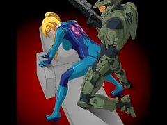 Den Samus 3D sex kompileringen ( Metroid ) ( Nintendo )