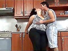 Chaud de l'étudiante Fat Blanc Chcik Récupère Gros morceau de de baise