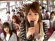 Crazy asian girls have hot bus tour 1