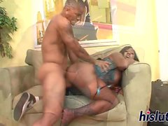 Mature bimbos enjoy pleasuring thick meat poles