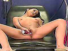Isis was indifferent to all things mechanical until Lexi crammed the anal probe in her tight little hole! With a little help from the Stimulator and the Sybian pounding her pussy raw, Isis became very fond of heavy metal!