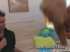 Tattooed french gf blows and bangs