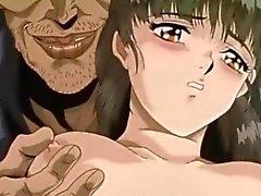 Anime acordonada consigue la apretó sus tetas