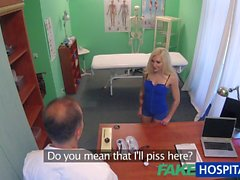 FakeHospital Tattooed Blonde Doktorlar Dick Loves ve cum istiyor