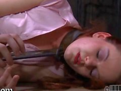 Intense caning for the worthless babe