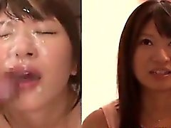 Asian Girl sucrée Extrait de sperme All Over Her Face